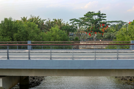 Cement bridge in the park Stock Photo