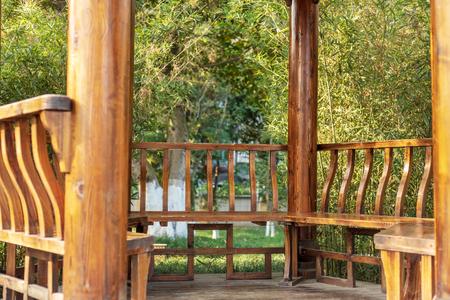 wooden pavilion 版權商用圖片