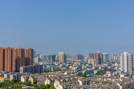 China's Sichuan Deyang City Panorama