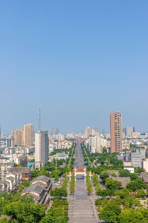 China's Sichuan Deyang City Panorama
