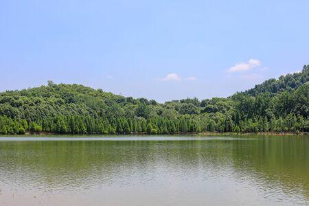 Natural landscape of Donghu Mountain, Deyang City, Sichuan Province, China
