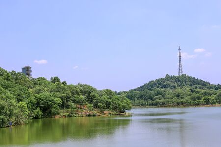 Natural landscape of Donghushan Park, Deyang City, Sichuan Province, China Stock Photo