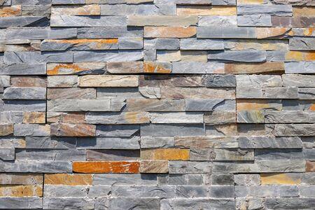 Colored brick wall, closeup