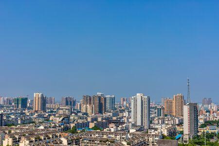 Chinas Sichuan Deyang City Panorama