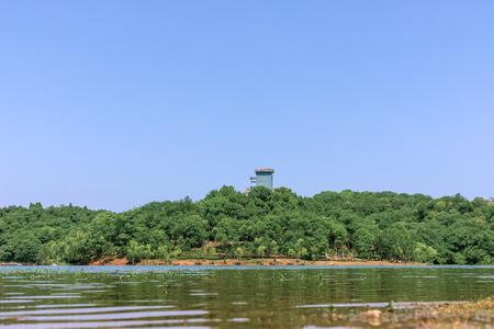 Natural scenery of Donghushan Park, Deyang City, Sichuan Province, China