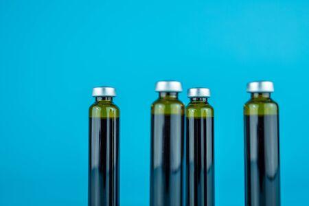 Oral liquid in bottle Stock Photo