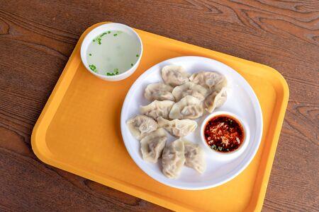 Dumplings on the plate