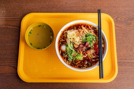 spicy beef noodle soup Stock Photo