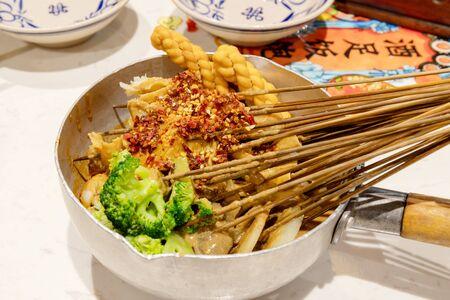 China Xian gourmet bean skin and beef omasum Stock Photo