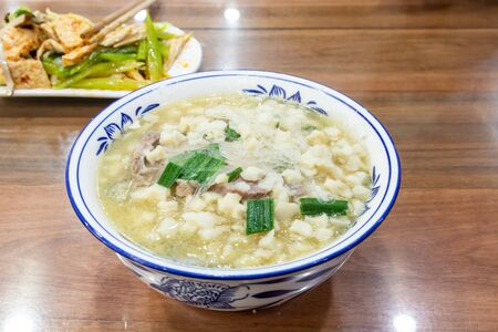 Paomo is a specialty of Shaanxi cuisine and is a typical food eaten in the city of Xian