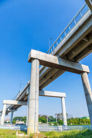 Blue Sky Overpass Viaduct, Third Ring Road, Chengdu City, Sichuan Province, China