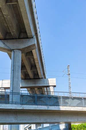 Blue Sky Overpass Viaduct, Chengdu City, Sichuan Province, China