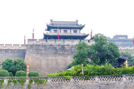 Ancient City Wall Building in Xi'an, Shaanxi Province, China