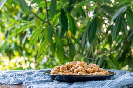 Peanut Crispy Food on a Plate Фото со стока