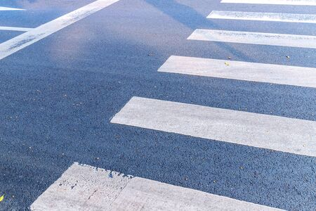 Sidewalk zebra crossing