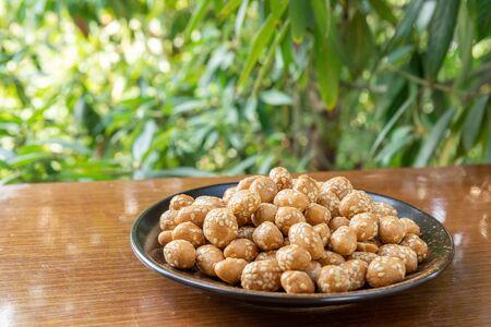 Peanut crisp on a plate