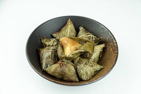 Zongzi in porcelain bowl