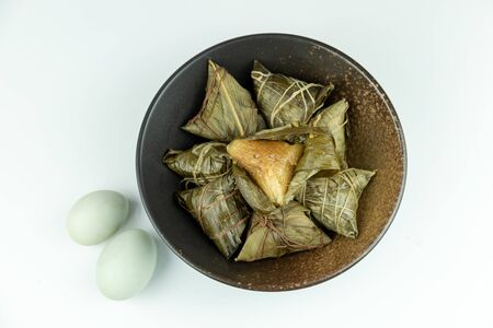 Salted duck eggs and zongzi