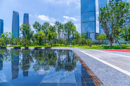 Chengdu Financial City Architecture and Green Landscape of Jiaozi Park