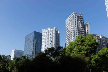 Urban high-rise housing apartment building 版權商用圖片