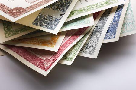 Stocks and Bonds Closeup photo