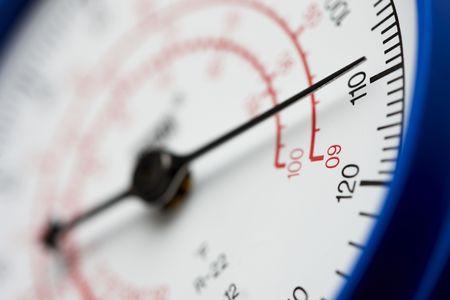 Pressure gauge shot at dramatic angle Reklamní fotografie
