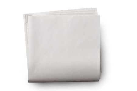 broadsheet newspaper: Blank newspaper on white with soft shadow. Add your own text. Stock Photo