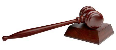 wooden gavel shot on white background Stock Photo - 5523694