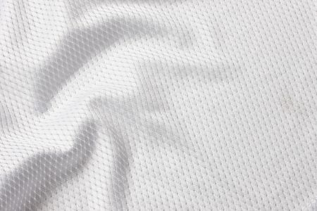 mesh texture: Close up shot of white textured football jersey Stock Photo