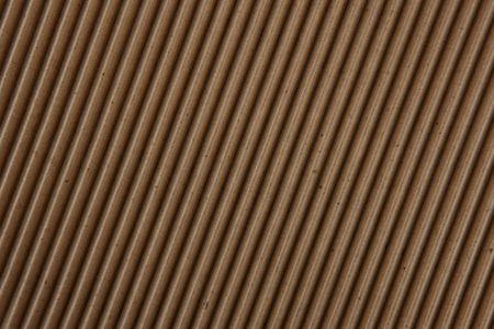 Close up shot of corrugated cardboard