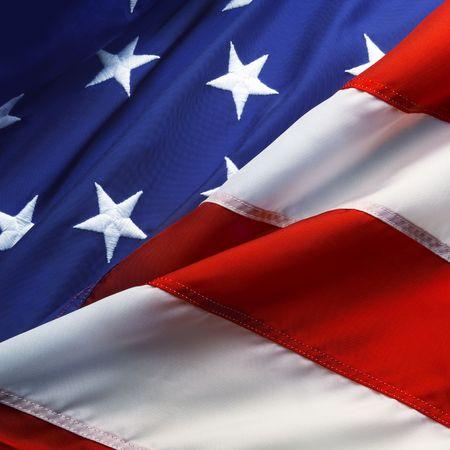stripe: Macro shot of stars and stripes of an american flag