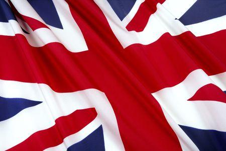 bandera inglaterra: Close-up disparo de bandera brit�nica ondulado  Foto de archivo