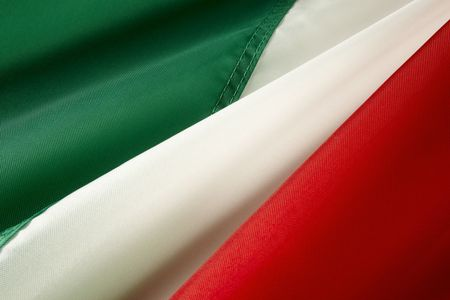 Extreme close up of wavy Italian flag Stock Photo