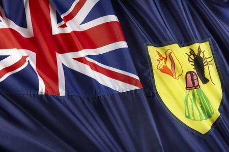 turks: Cerrar parametro disparo de bandera de las Islas Turcas y Caicos ondulado