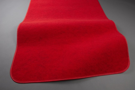 Closeup shot of red carpet includes space for copy Stock Photo - 8880687
