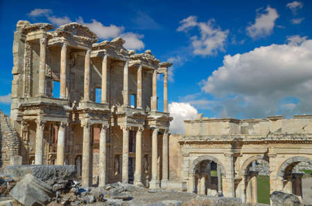 hadrian: Ancient Celsius library in Ephesus