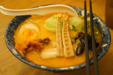 ramen: Japanese-style ramen Stock Photo