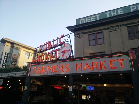 Seattle Pike Place Market Editorial