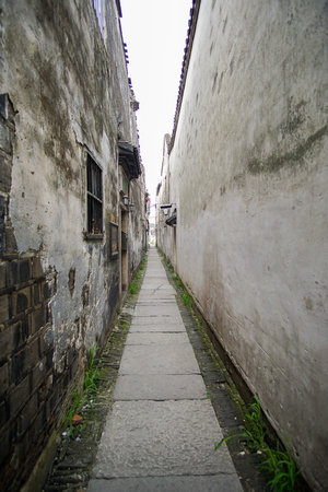 back alley: back alley in an ancient town at South of Wuzhen