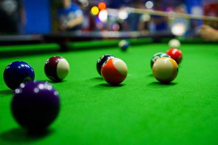 snooker cues: Billiards Stock Photo