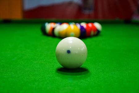 cues: Billiards Stock Photo