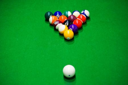 pool cues: Billiards Stock Photo