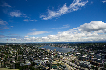 Seattle overlook on the Space Needle