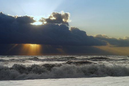 stormy sunset in Italy near Grosseto Stock Photo