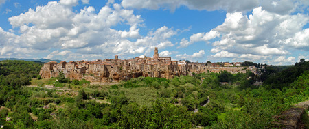 Panorama of Pitigliano in Italy photo