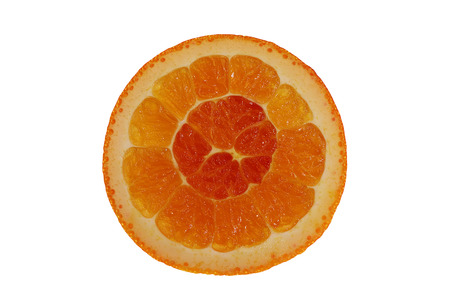 isolated end of an orange