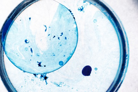 Blue spot on white background. Abstract picture