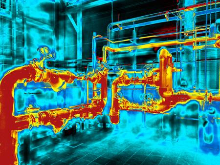 Thermogrammabbildung des Engineering Systems. Bunt Standard-Bild