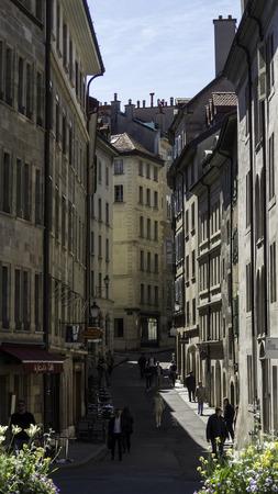geneva: Street in the old Geneva