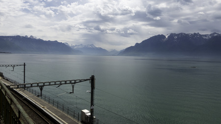 lonelyness: Railway running along the lake